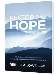 Book cover image - Restoring Hope in Chronic Pain by Rebecca Lowe